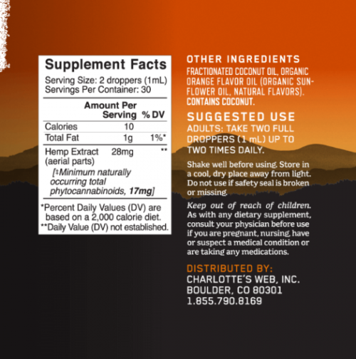Charlottes-Web-17mg-Orange-Blossom-1 floz-Supplement-facts